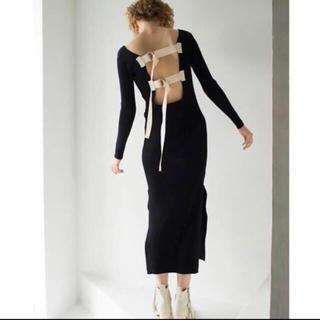 MM6 - LEINWANDE   新品 belted knit long dress