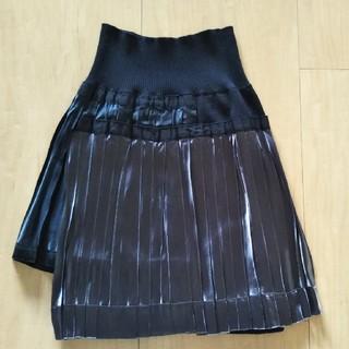サカイ(sacai)のsacai  サカイ ニットサテンのプリーツスカート(ひざ丈スカート)