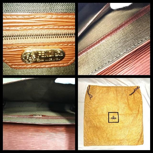 FENDI(フェンディ)の値下げ! フェンディ 鍵付き 大型 クラッチバッグ ボルドー レア品 【美品】 メンズのバッグ(セカンドバッグ/クラッチバッグ)の商品写真