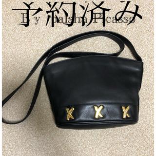 Tiffany & Co. - ティファニーデザイナー 革製バッグ 黒 ショルダーバッグ ベビーカーフバッグ