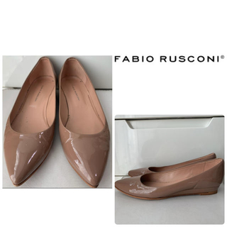 FABIO RUSCONI - ファビオルスコーニ ベージュパテント パンプス