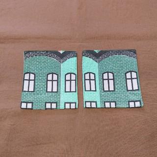 マリメッコ(marimekko)のコースター2枚セット 北欧レンガ柄(キッチン小物)