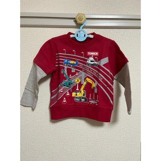 クレードスコープ(kladskap)のkladskap トミカコラボ働く車レイヤード風裏毛Tシャツ 100(ブラウス)