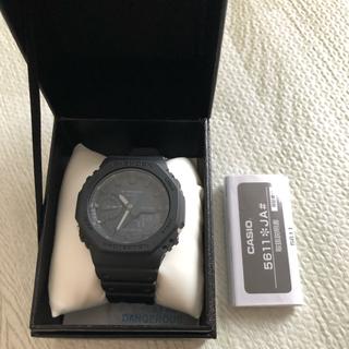 ジーショック(G-SHOCK)のG-SHOCK GA-2100-1A1JF ブラック(腕時計(アナログ))