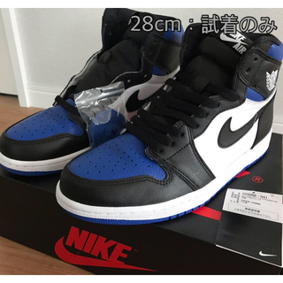 ナイキ(NIKE)の値下⤵️AIR JORDAN1 OG HIGH  Royal Toe US10(スニーカー)