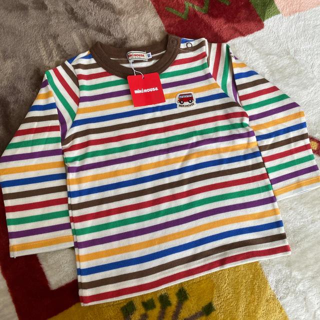 mikihouse(ミキハウス)のミキハウス ボーダーロンTee キッズ/ベビー/マタニティのキッズ服男の子用(90cm~)(Tシャツ/カットソー)の商品写真