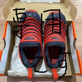 NIKE - ダイナモフリー ナイキ 17.5センチ 18センチ スニーカー グレー×オレンジ