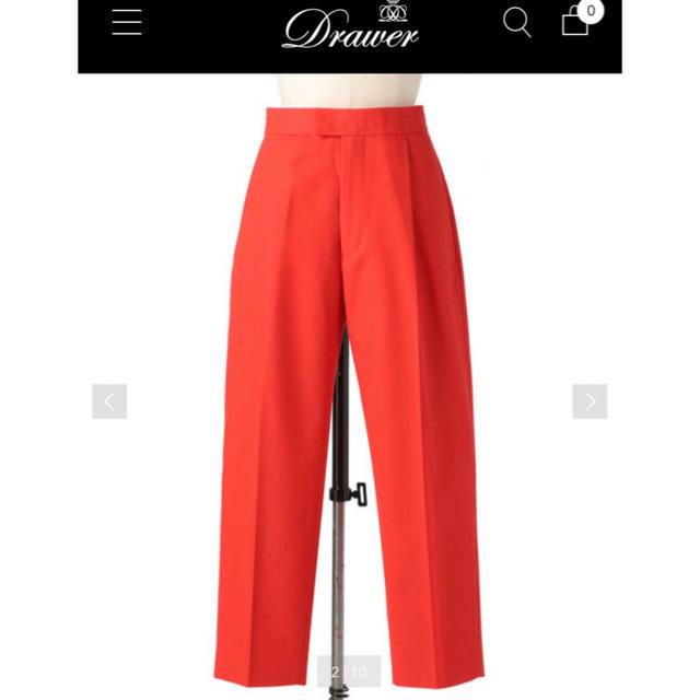 Drawer(ドゥロワー)のドゥロワー カラーパンツ 人気完売 レディースのパンツ(クロップドパンツ)の商品写真