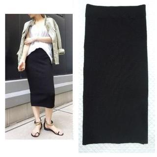 L'Appartement DEUXIEME CLASSE - 未使用近い 3万2千円 ジェームスパース リブタイトスカート 2 (M/L) 黒