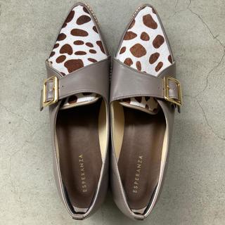 エスペランサ(ESPERANZA)のアニマル柄 ローファー(ローファー/革靴)