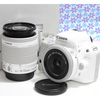 キヤノン(Canon)の極美品★Canon EOS kiss X7 ダブルレンズセット★希少なホワイト★(デジタル一眼)