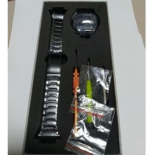 ジーショック(G-SHOCK)のジーショック GM-S5600タイプ  5600型 ブラック ケースベルトセット(金属ベルト)