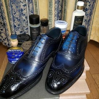 ★★大塚製靴▪️オーツカ ウイングチップ 26.5cm 3E ネイビー