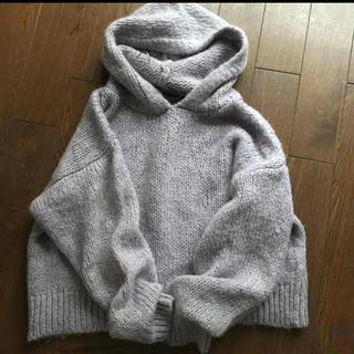 ZARA - ZARA フード付 プルオーバールーズニット セーター