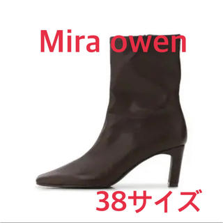 Mila Owen - ミラオーウェン スクエアストレッチブーツ  38サイズ