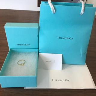 ティファニー(Tiffany & Co.)の美品/ワイヤーリング/Tiffanyティファニー/ゴールド(リング(指輪))