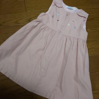 familiar - ファミリア ジャンパースカート 90 女の子 ピンク