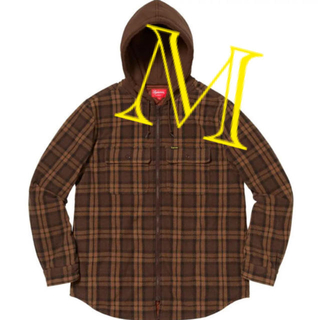 Supreme - SUPREME HOODED PLAID WORK SHIRTS