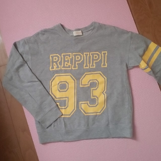レピピアルマリオ(repipi armario)のレピピ ロゴトレーナー グレー M(Tシャツ/カットソー)