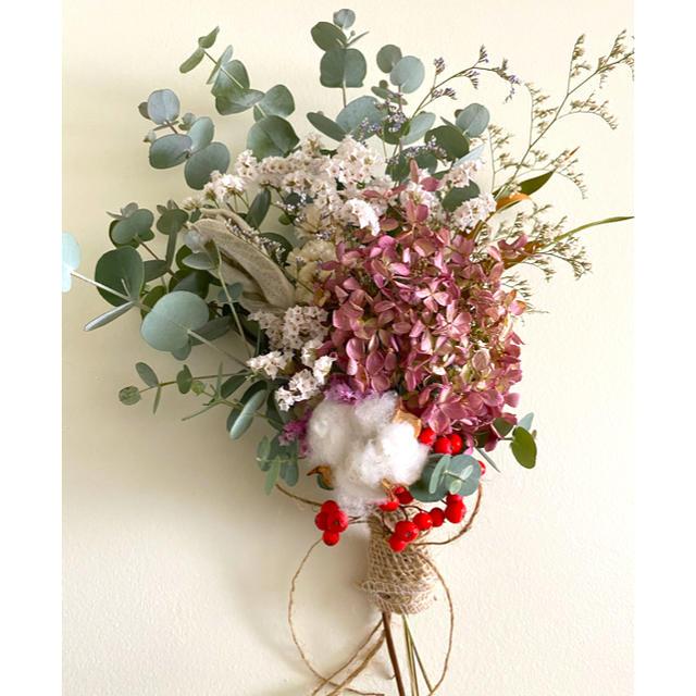 ドライフラワー 水無月 紫陽花  スワッグ ⋆*❁* ハンドメイドのフラワー/ガーデン(ドライフラワー)の商品写真