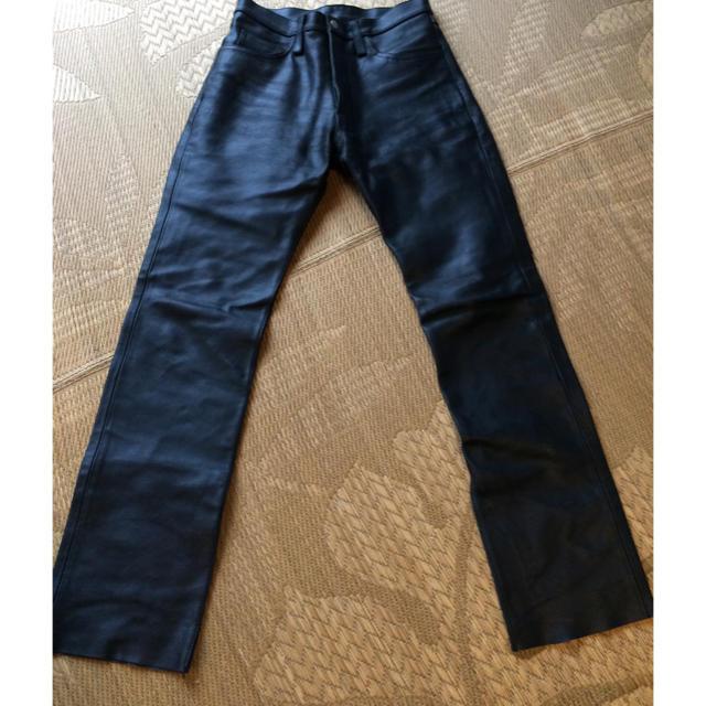 AVIREX(アヴィレックス)のAVIREX  Mサイズ  皮パンツ メンズのパンツ(その他)の商品写真