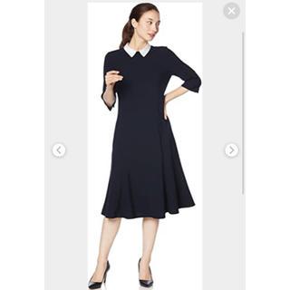 FOXEY - セルフォード ワンピース ネイビー 36 襟付き 紺 お受験 入学式