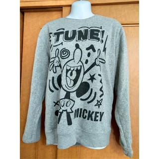 ディズニー(Disney)のDisney ミッキーマウス グレー トレーナー(スウェット)