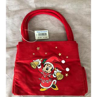 ミニーマウス(ミニーマウス)のクリスマス ミニーマウス バッグ Disneyland 未使用品(キャラクターグッズ)