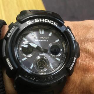 ジーショック(G-SHOCK)のGショック電波ソーラー時計海外モデルブラックA W G-M 100BW (腕時計(アナログ))