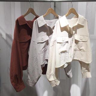 ジーナシス(JEANASIS)のJEANASIS リネンライクBIGシャツジャケット(シャツ/ブラウス(長袖/七分))