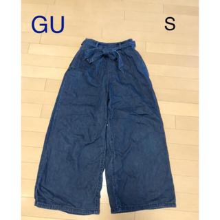 ジーユー(GU)のGU♡デニム ワイドパンツ ガウチョパンツ(デニム/ジーンズ)