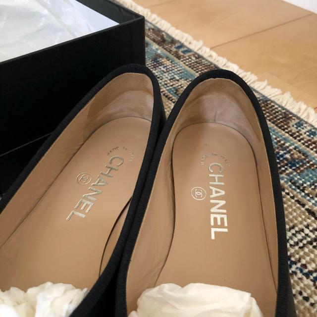 CHANEL(シャネル)のシャネル フラットシューズ BLK/SLV 37 レディースの靴/シューズ(バレエシューズ)の商品写真