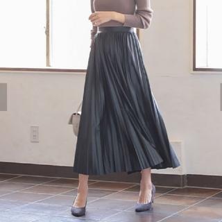 神戸レタス - 神戸レタス フェイクレザー スカート プリーツ  ブラック