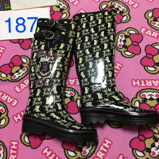 Juicy Couture - 187🌸ジューシークチュール🌸長靴🌸22cm