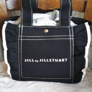 JILL by JILLSTUART - フリルキャンバストートブラック小さいサイズ
