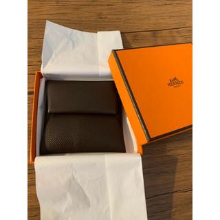 エルメス(Hermes)のエルメス バスティア 2019年新色ショコラ 小銭入れコインケース 新品未使用(コインケース)