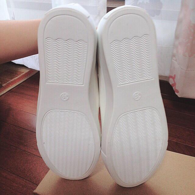 白 スニーカー レディースの靴/シューズ(スニーカー)の商品写真