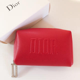 Dior - ディオール ポーチ ノベルティ レッド
