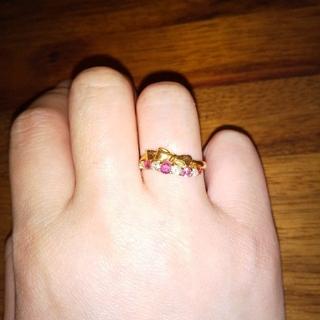 ルビー・ダイヤの指輪18K(リング(指輪))