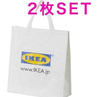 イケア(IKEA)のイケア♥️新品♥️IKEA KLAMBY クラムビー バッグ, ホワイト  2枚(エコバッグ)