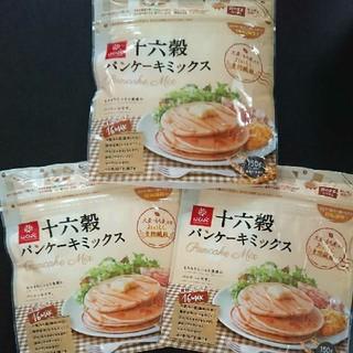 はくばく もち麦 十六穀 パンケーキミックス  3袋 保存食  ダイエット 便秘