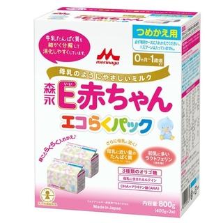 森永乳業 - 粉ミルクE赤ちゃんエコらくパック+おまけ付き