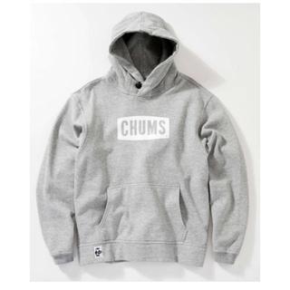 チャムス(CHUMS)のCHUMS ロゴスウェットパーカー グレー(パーカー)