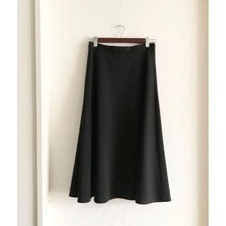 ドアーズ(DOORS / URBAN RESEARCH)の美品♡ドアーズ ボンディングフレアスカート ブラック(ひざ丈スカート)