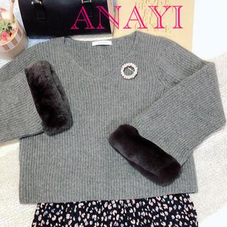 ANAYI - ANAYIアナイ✨2018AW人気完売品【レッキスファースリーブニット36】