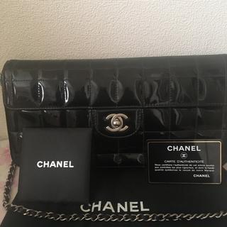 CHANEL - 本物美品♡CHANELマトラッセチョコバー黒エナメル
