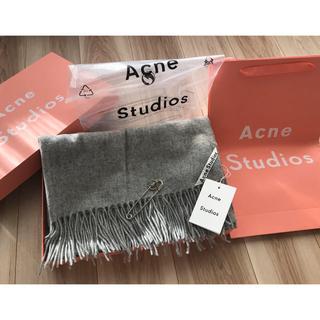 ACNE - 【新品タグ付き】Acne Studios アクネ 大判ストール グレー