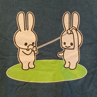 CUNE - キューン 糸電話 うさぎ Tシャツ Sサイズ CUNE