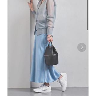 UNITED ARROWS - サテンスカート!ブルー!上品!