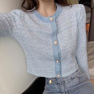 Lily Brown - ツイード柄カーディガン セーター ニット